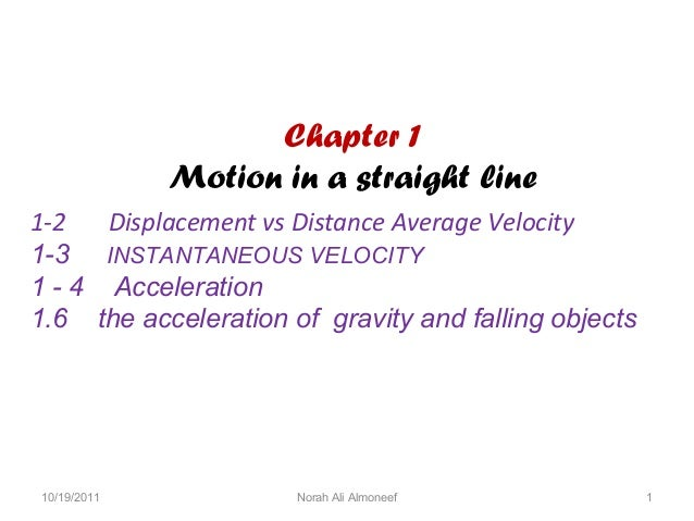 Chapter 1 motion in a straight linemr.
