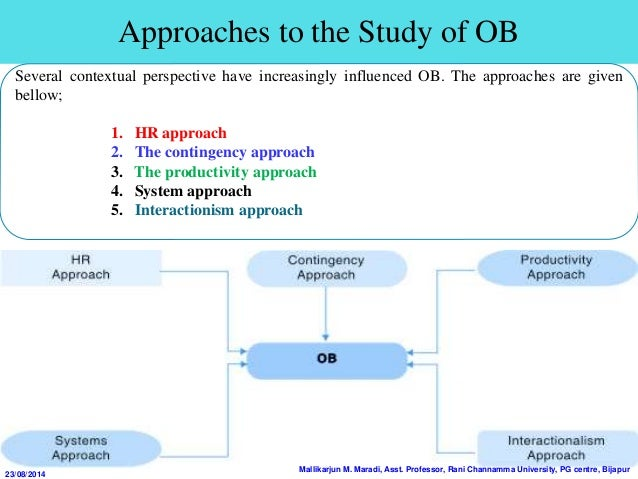productivity approach to organisational behaviour