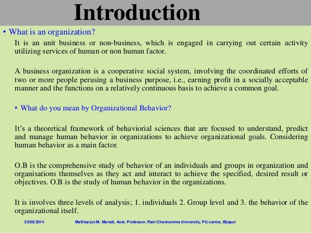 what do you understand by organisational behaviour