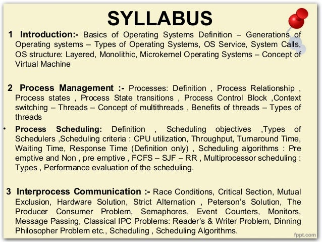 process management in operating system pdf