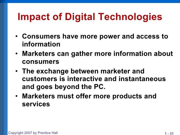 Impact of technological advancement on consumer behaviour