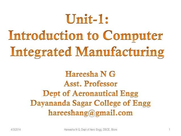 4/3/2014 1Hareesha N G, Dept of Aero Engg, DSCE, Blore