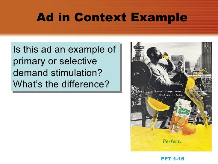 primary and selective demand stimulators in advertising The world of advertising and integrated brand promotion ppt 1-1 three criteria   is this ad an example of primary or selective demand stimulation what's the.