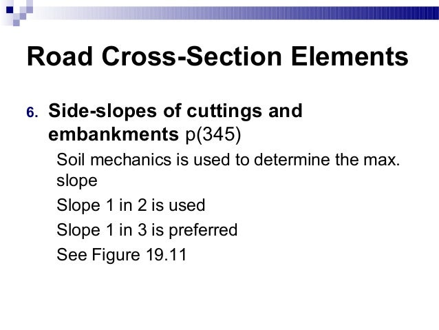 Chapter 1 Road Cross Section Elements