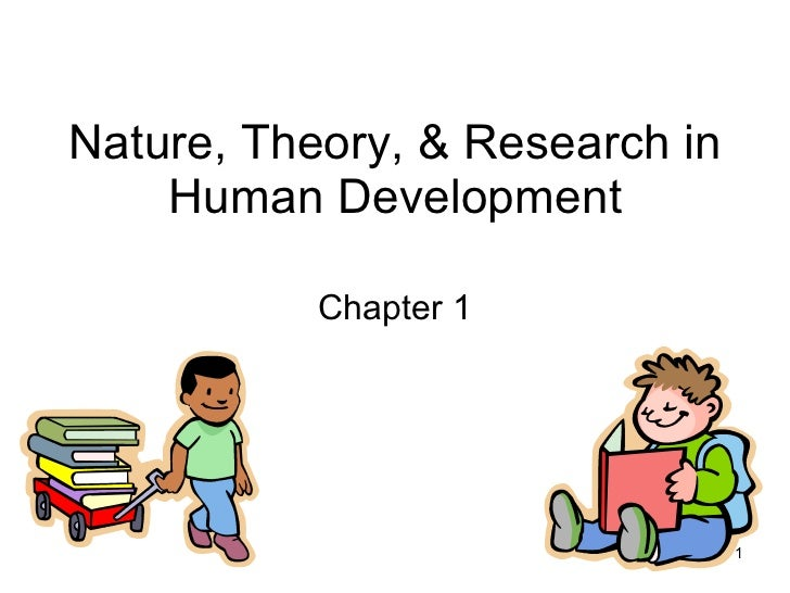 Nature, Theory, & Research in Human Development Chapter 1