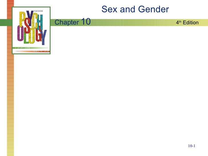 Sex and Gender Chapter  10