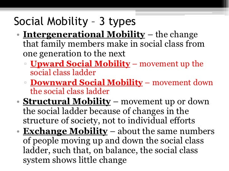 class rigidity and social mobility Is america the land of opportunity not so much a new report from the organization for economic co-operation and development (oecd) finds that social.