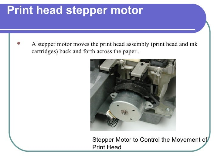 Chapter 11 printers and scanners for Print head stepper motor