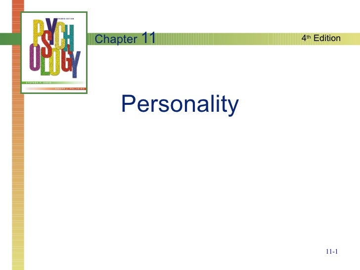 Personality Chapter  11