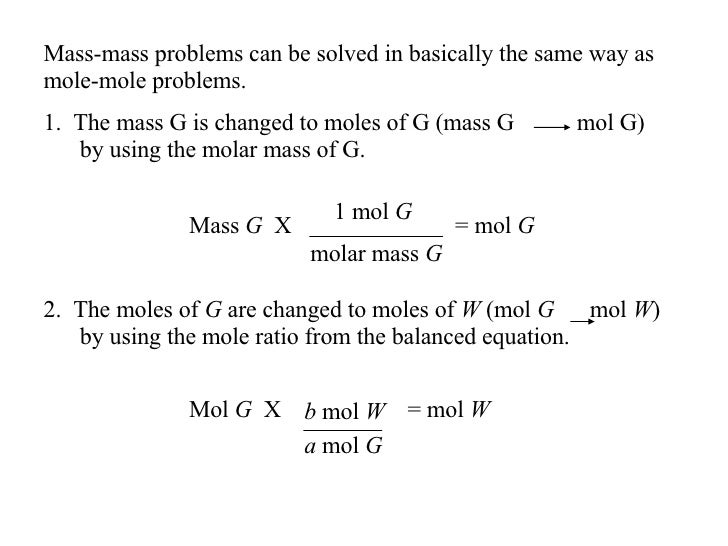 Chapter 12 Stoichiometry – Mass-mass Stoichiometry Worksheet