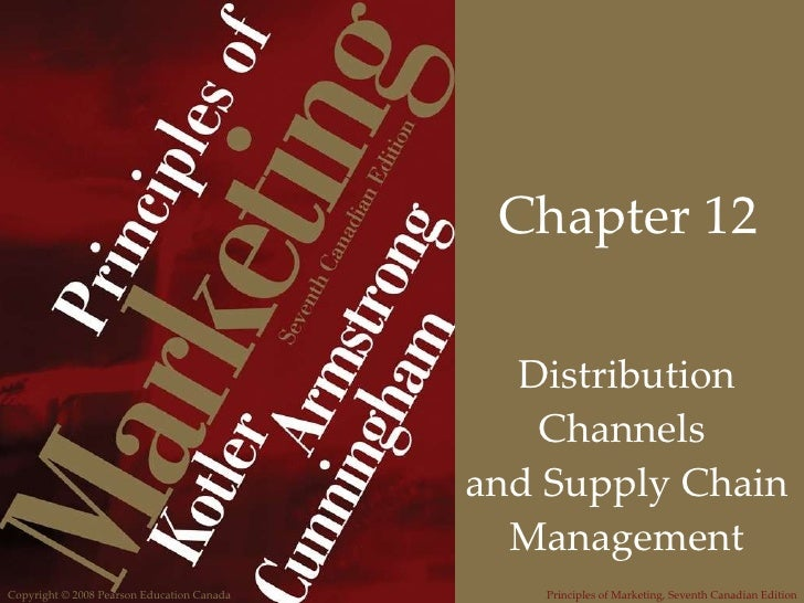 Chapter 12 Distribution Channels  and Supply Chain Management