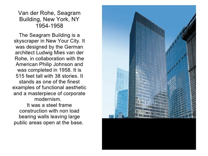 Kcc art 211 ch 13 architecture for Seagram building ppt