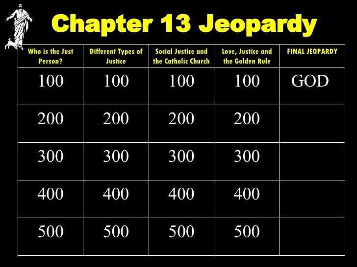 Chapter 13 Jeopardy 500 500 500 500 400 400 400 400 300 300 300 300 200 200 200 200 GOD   100 100 100 100 FINAL JEOPARDY L...