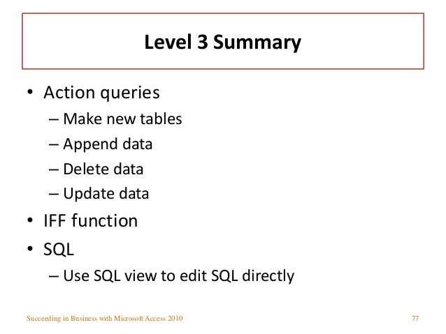 Writing a sql query in excel 2010