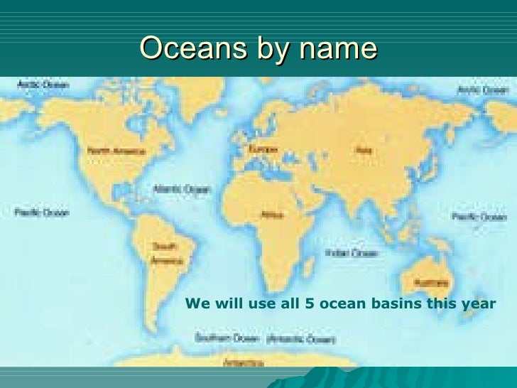 Chapter New Notes - All 5 oceans