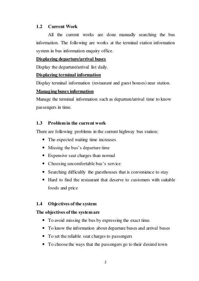 Highway Terminal Station Information System Slide 2