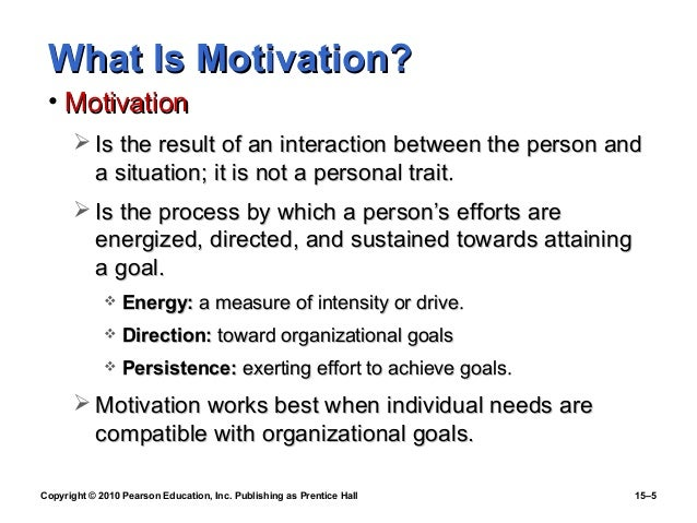 explain process motivation Importance of motivation we can say that motivation therefore is a continuous process since motivation process is based on needs which are unlimited.