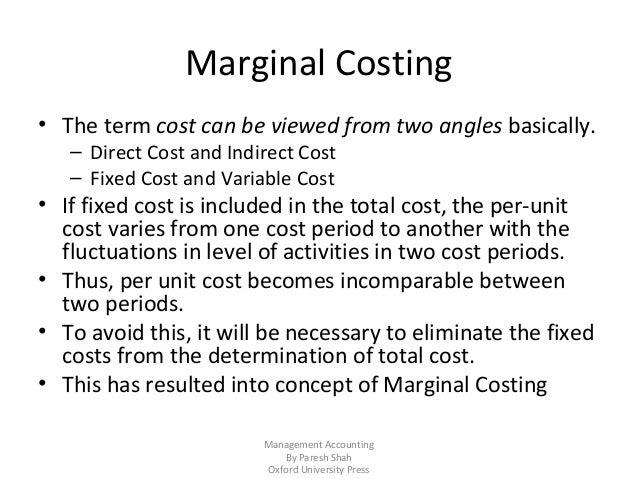 Chapter 16-marginal-costing and cvp analysis Slide 2