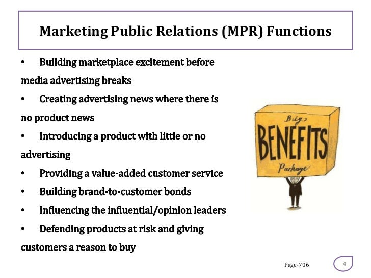 function of public relation Chapter 4 public relations as a management function in the opening chapters, we provided an overview of public relations, including definitions, a brief history of the profession, and a description of the models and subfunctions common in the profession.