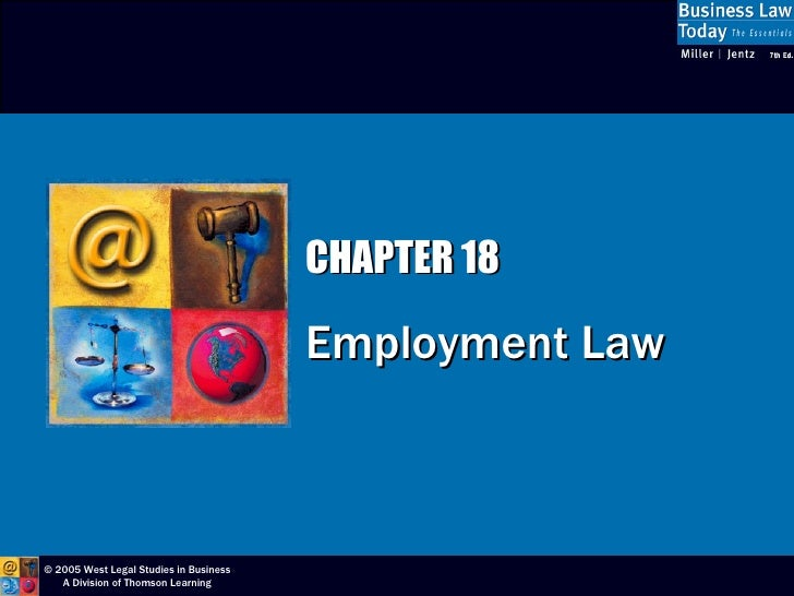 CHAPTER 18 Employment Law