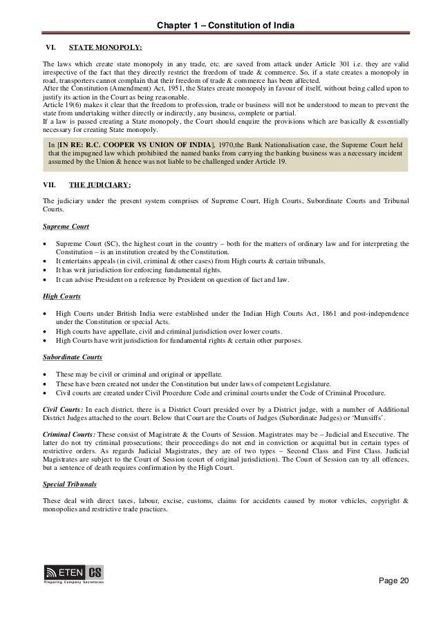 Subject matter involving Article 301