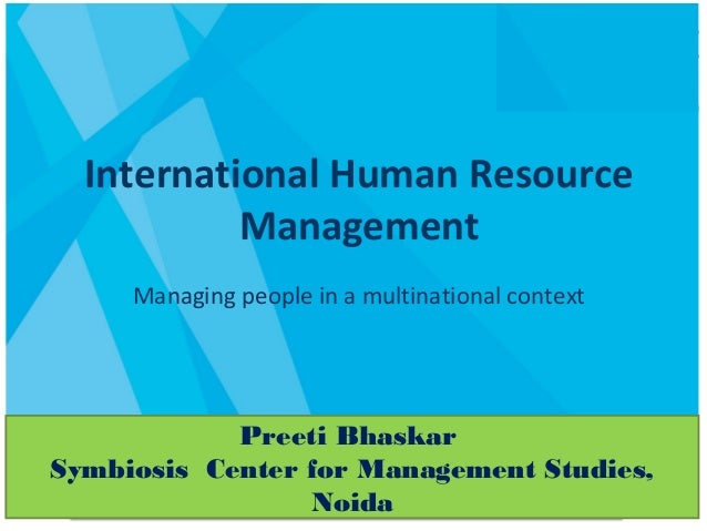 human resource management in the context