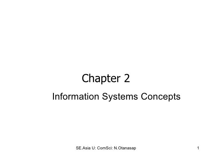 Chapter  2 Information Systems Concepts