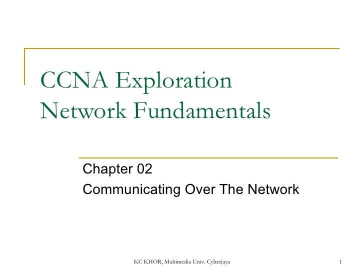 CCNA Exploration  Network Fundamentals Chapter 02  Communicating Over The Network KC KHOR, Multimedia Univ. Cyberjaya