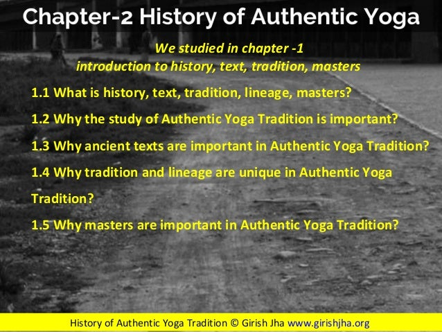 Chapter 23 Historyof Authenticyoga Timeline