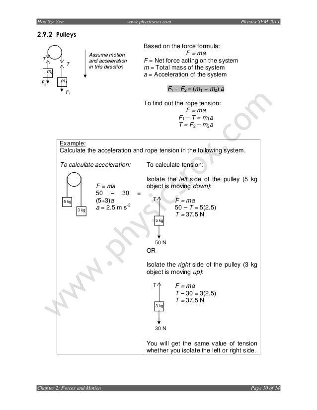 Chapter 2forcesandmotion2011 – F Ma Worksheet