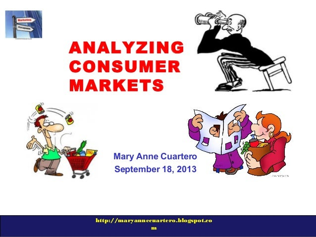 http://maryannecuartero.blogspot.co m ANALYZING CONSUMER MARKETS Mary Anne Cuartero September 18, 2013