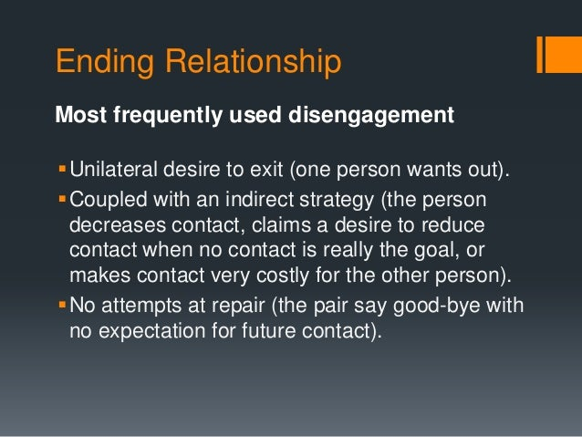 a topography of relationship disengagement and dissolution