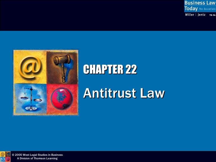 CHAPTER 22 Antitrust Law