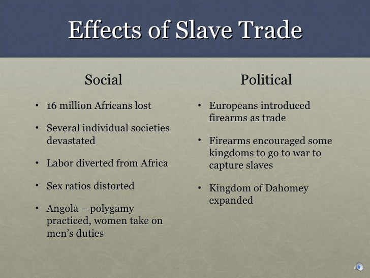 slavery's effect on political party's The economic, political, and social impact of the atlantic slave trade on africa babacar m'baye this paper is copyrighted.
