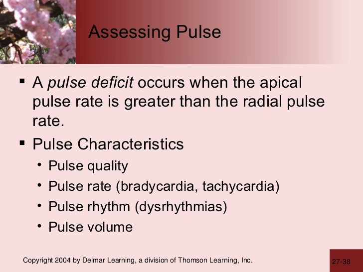 Assessing the Pulse