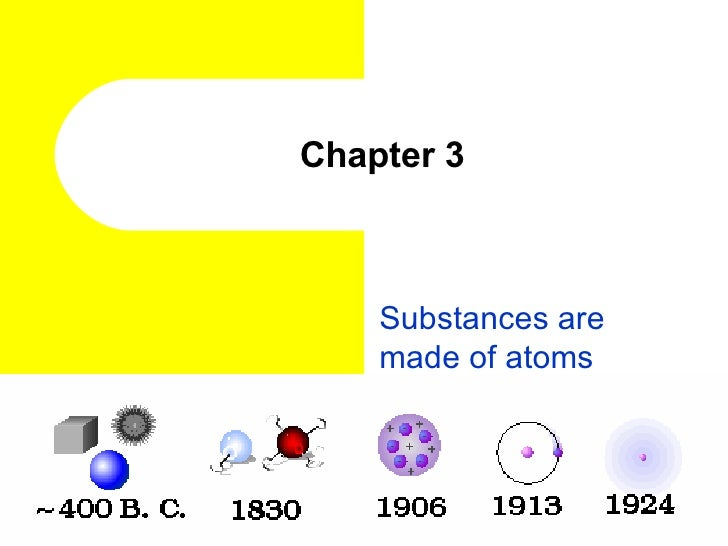 Chapter 3 Substances are made of atoms