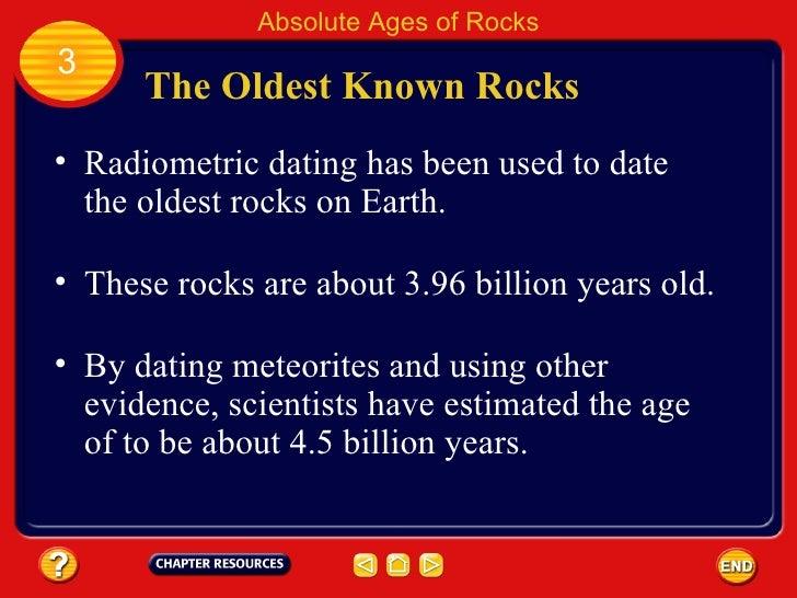 Radiometric hookup of the earth age