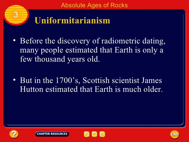 Based on radiometric dating how old is earth