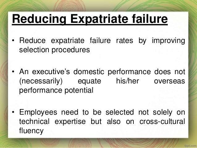 expatriate failure