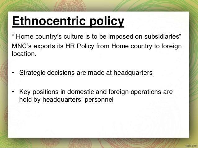 international staffing policy