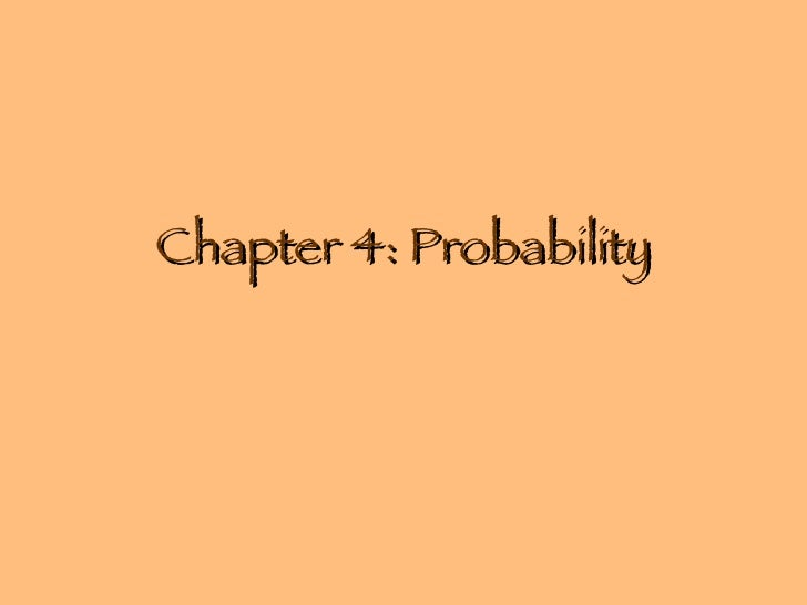 Chapter 4: Probability