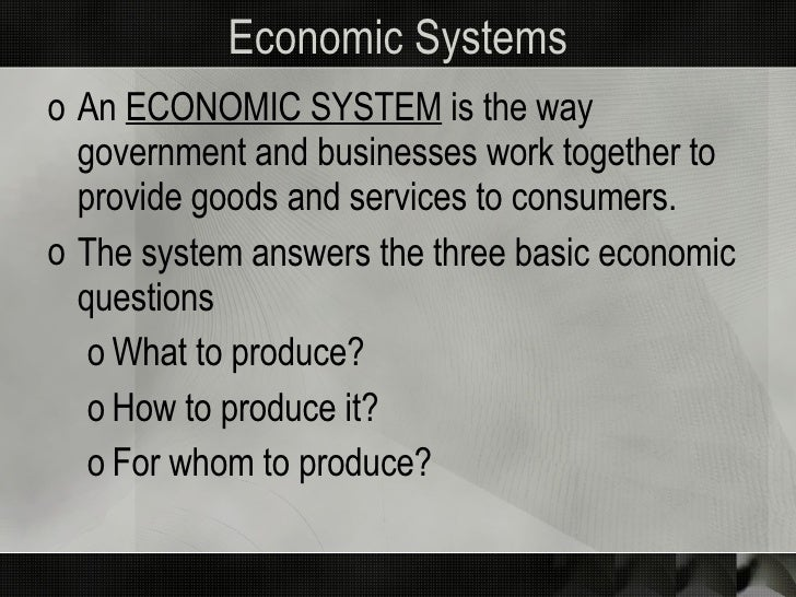 Economic Systems and Business Impact Slide 2