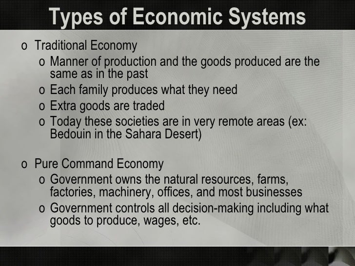 Economic Systems and Business Impact Slide 3
