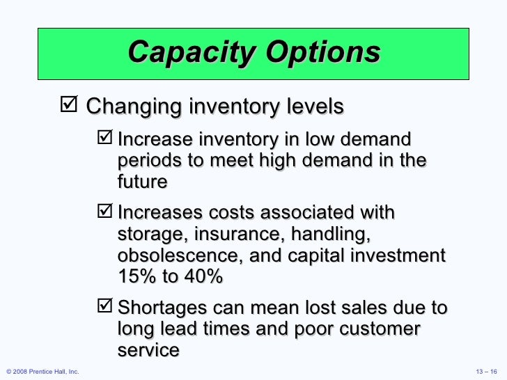 meet demand and maintain low inventory levels
