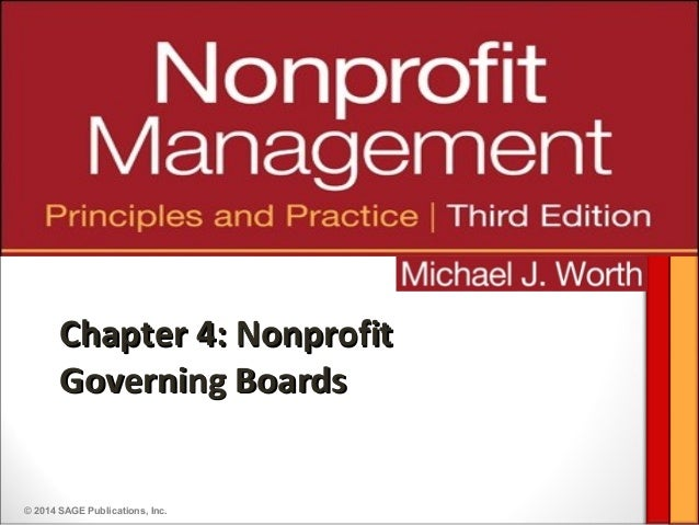 © 2014 SAGE Publications, Inc.Chapter 4: NonprofitChapter 4: NonprofitGoverning BoardsGoverning Boards