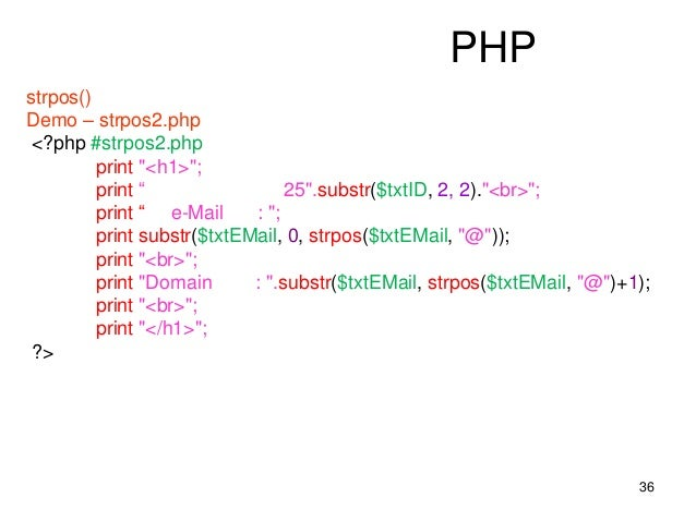 php strpos