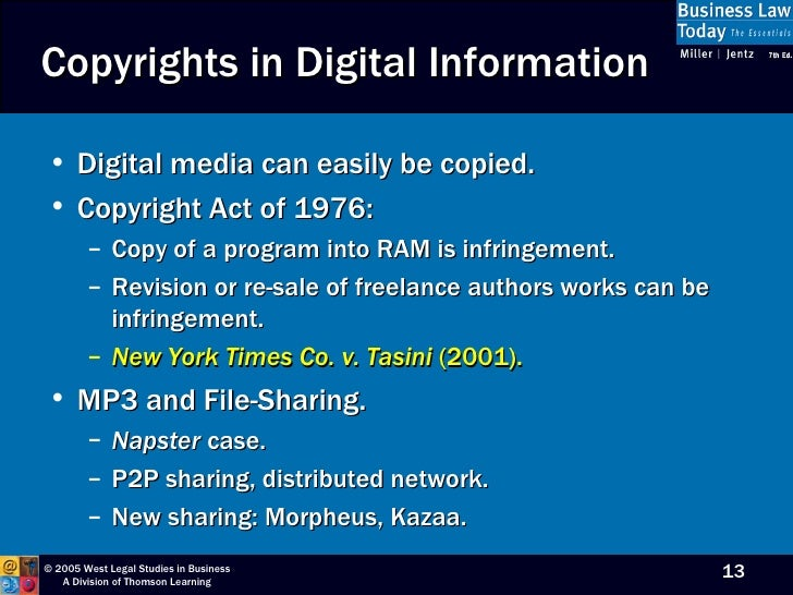 Chapter 5 for Copyright facts and information