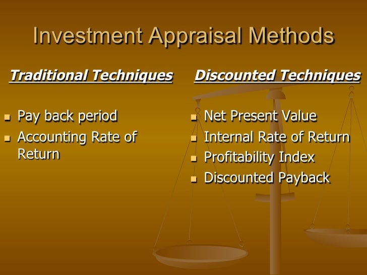 traditional investment appraisal techniques 1 the following data will be use for all the questions in this chapter nistleroy vans ltd is considering investing in a new van costing 20,000.
