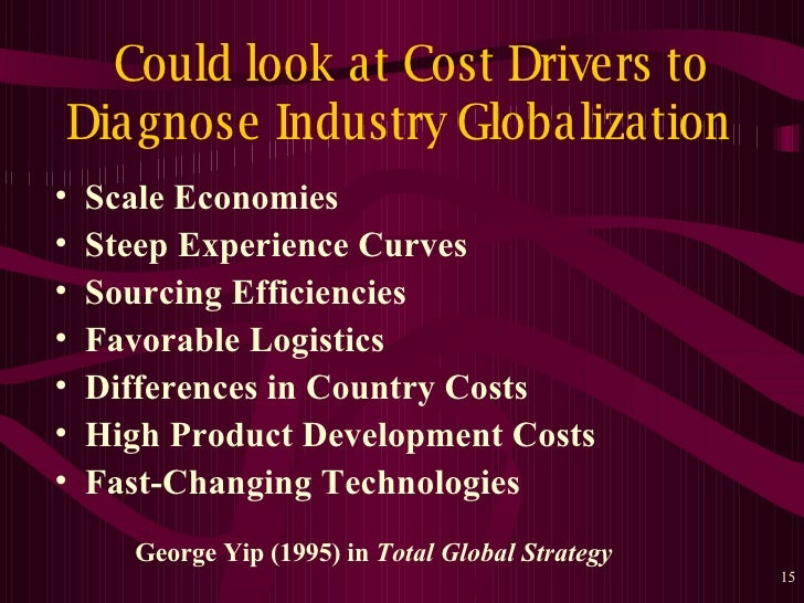 tesco yip s globalization drivers Yip's globalisation drivers • analyse which aspects of industries and markets – objectives, core competences, strategies, r&d.