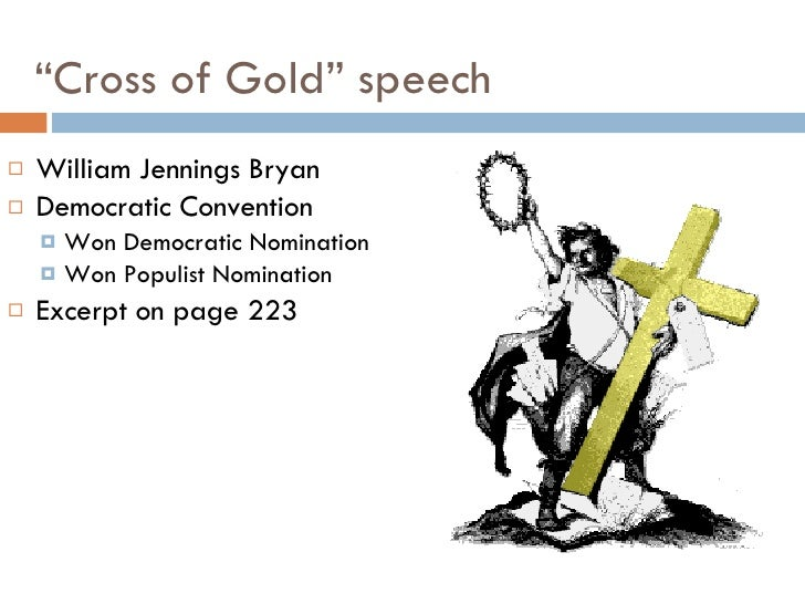 who gave the cross of gold speech